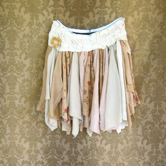 diy tattered skirt tutorial