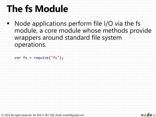 node js file system tutorial