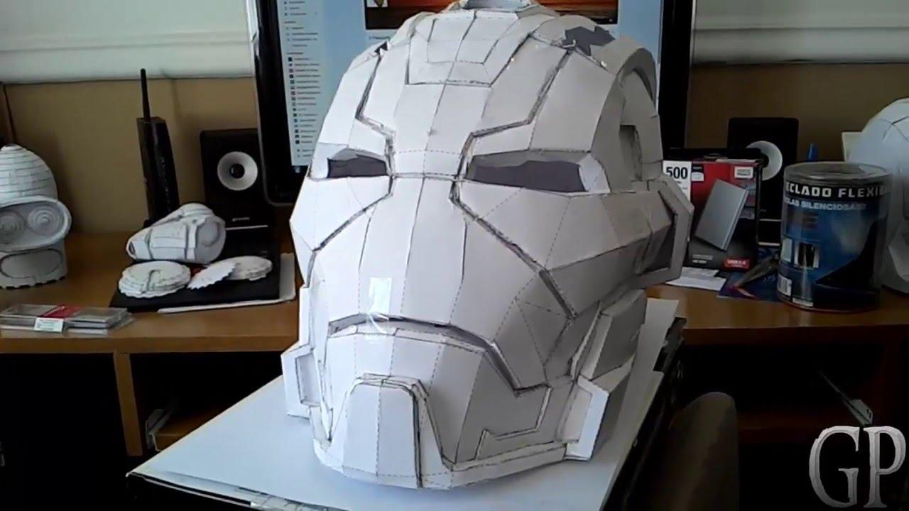 pepakura ironman helmet tutorial