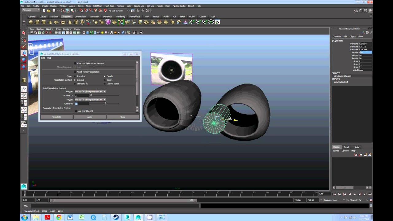 maya nurbs modeling tutorial
