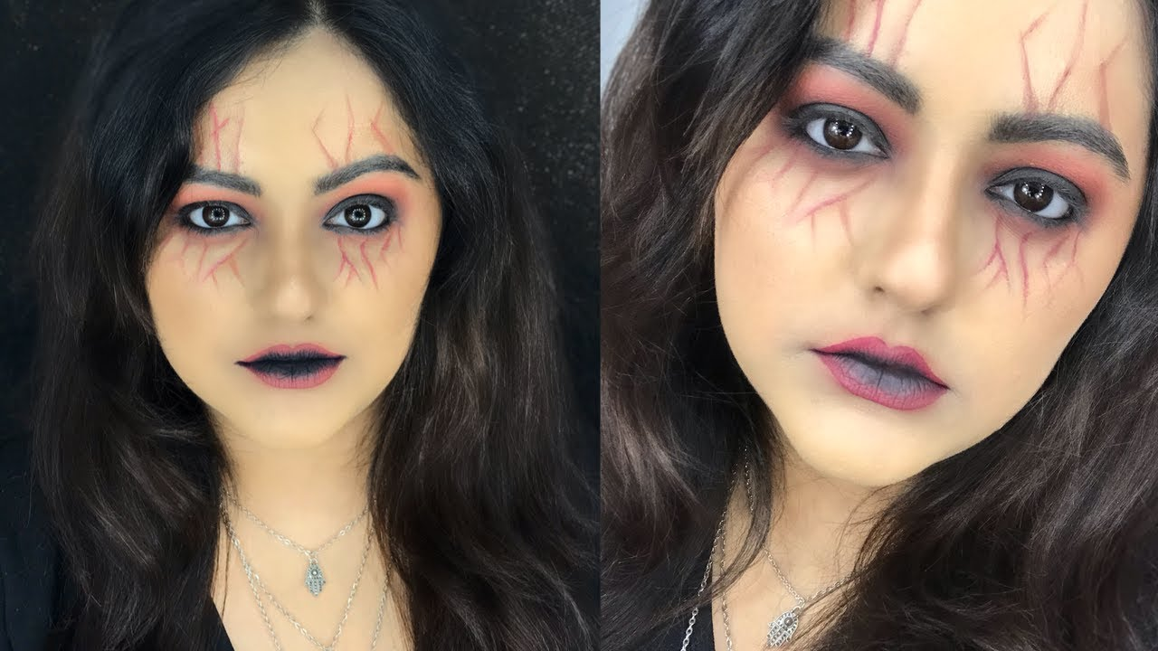 scary witch makeup tutorial