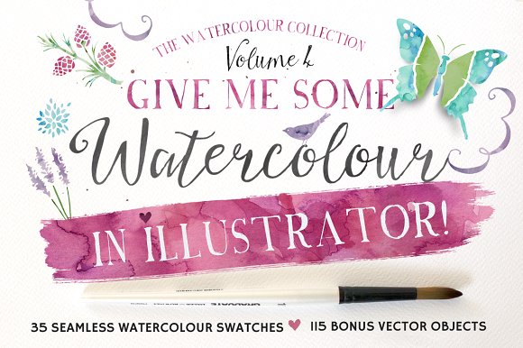illustrator watercolor brushes tutorial