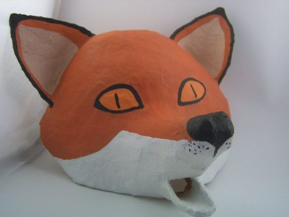 paper mache animal mask tutorial