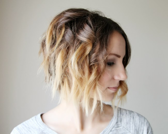 short hair ombre tutorial