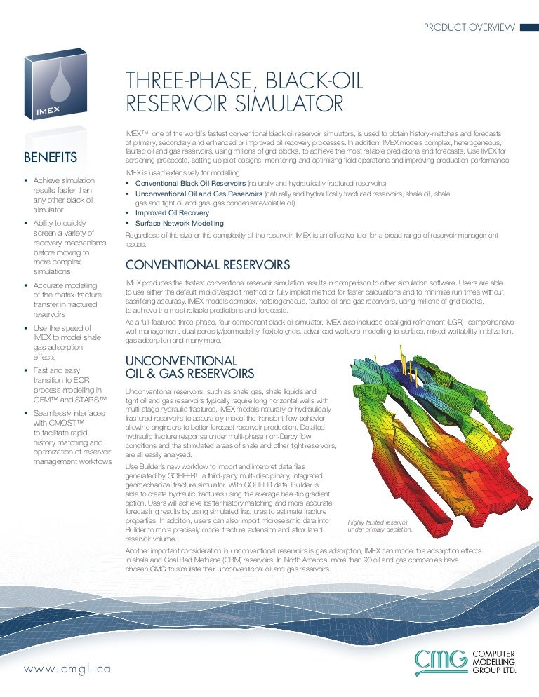 cmg reservoir simulation tutorial