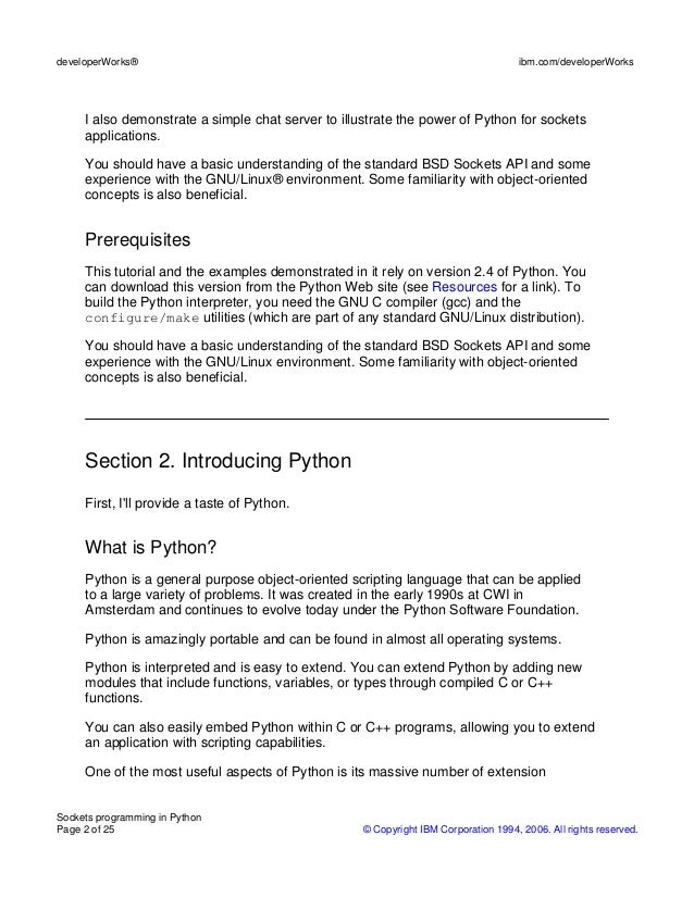 python socket programming tutorial