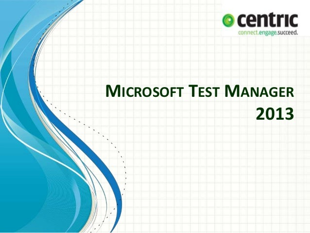microsoft test manager 2013 tutorial