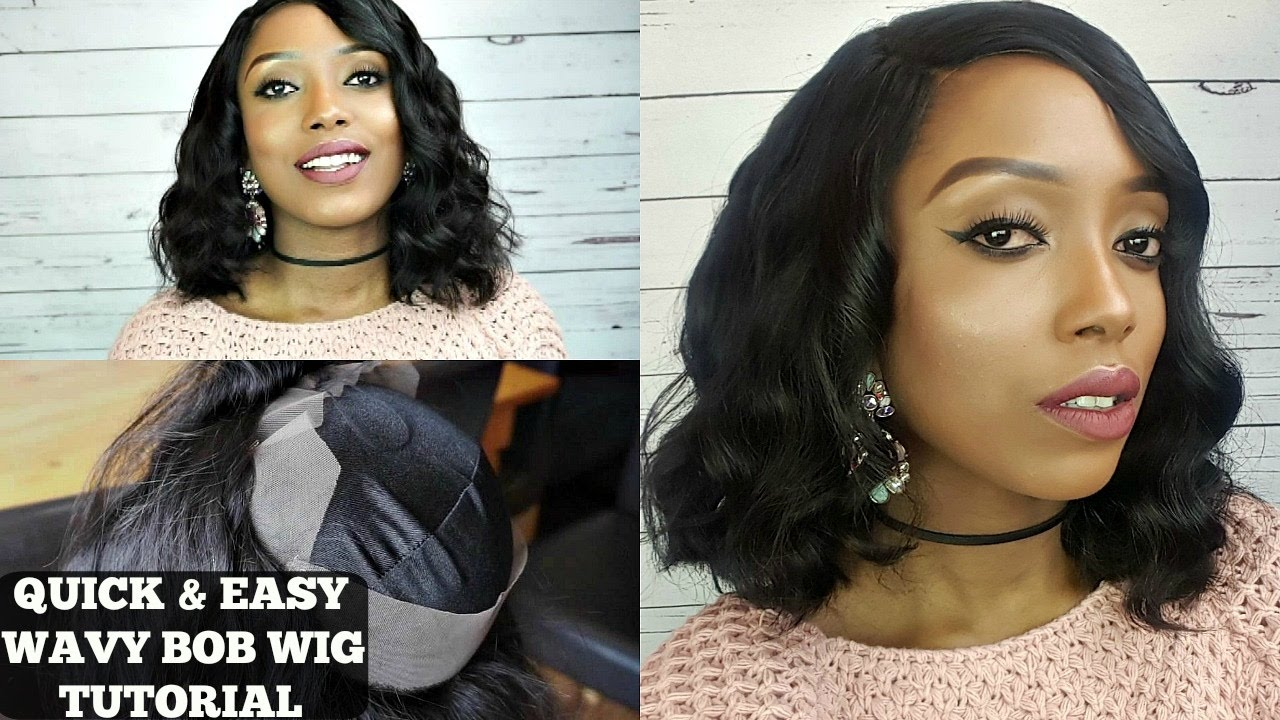 wavy bob tutorial youtube