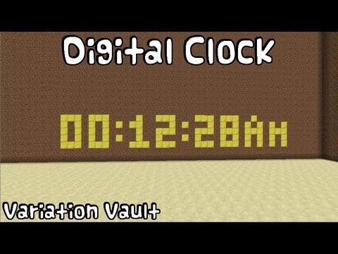minecraft digital clock tutorial