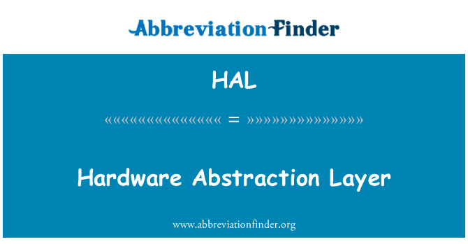 hardware abstraction layer tutorial