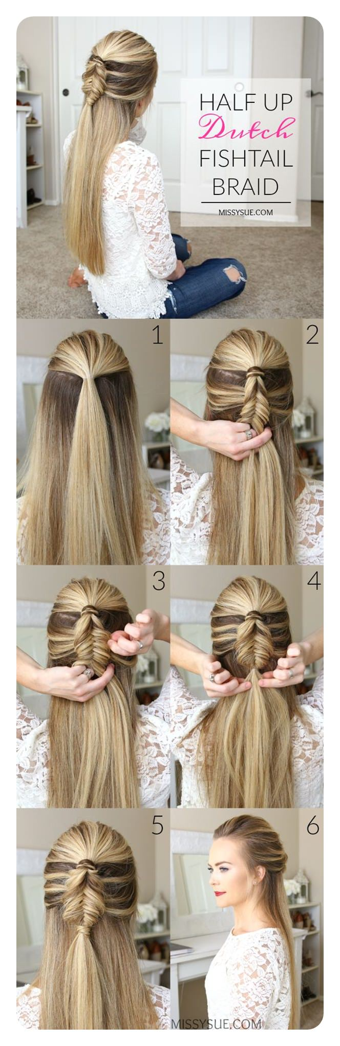 tutorial on how to do a fishtail braid