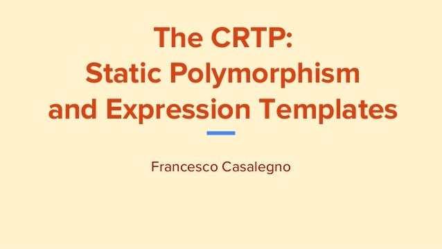 expression templates c++ tutorial