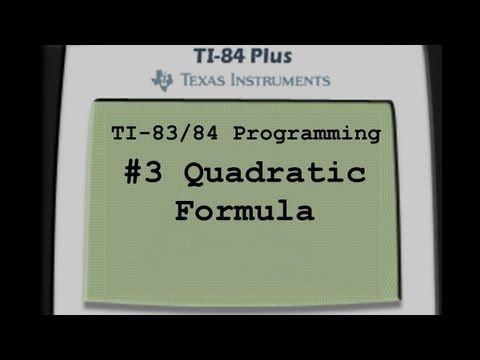 ti 83 plus tutorial