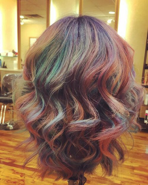 rainbow hair dye tutorial