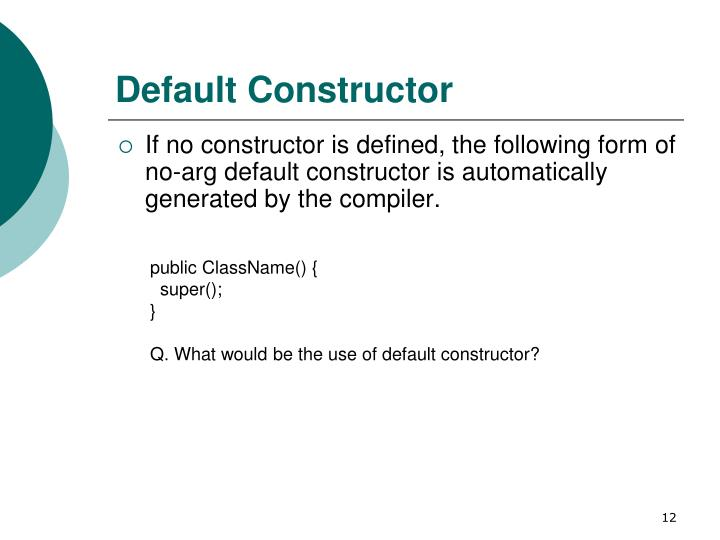 constructor in java tutorial point