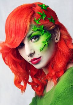 poison ivy hair tutorial