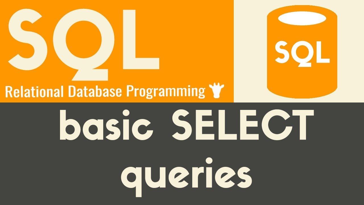 basic sql queries tutorial