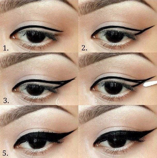 winged eyeliner tutorial step by step