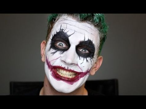 joker heath ledger makeup tutorial