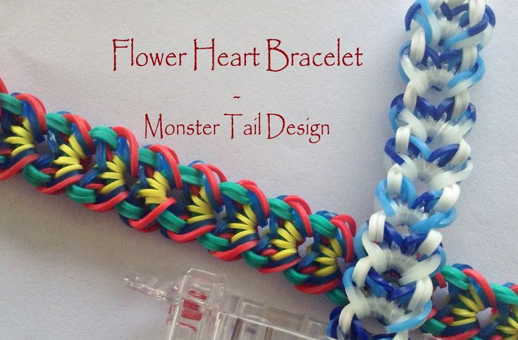 monster tail loom bracelets tutorial