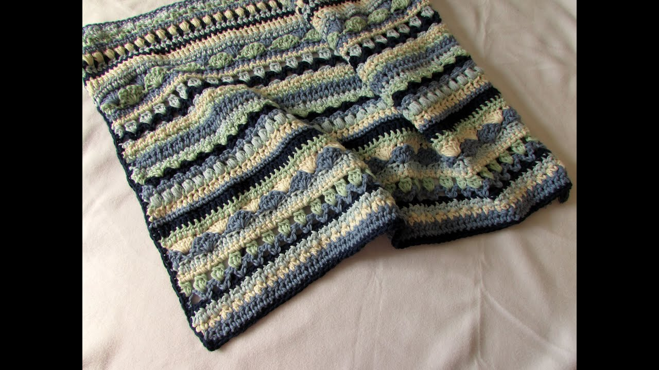 crochet throw blanket tutorial