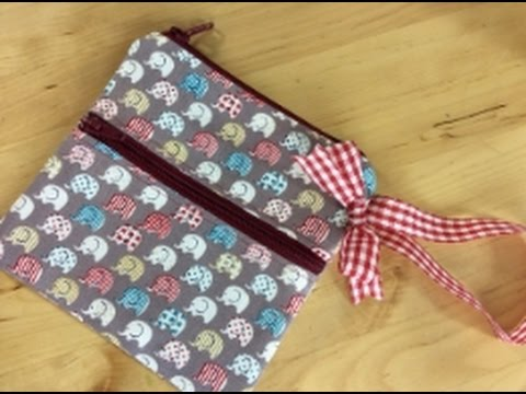 lined zippered pouch tutorial youtube