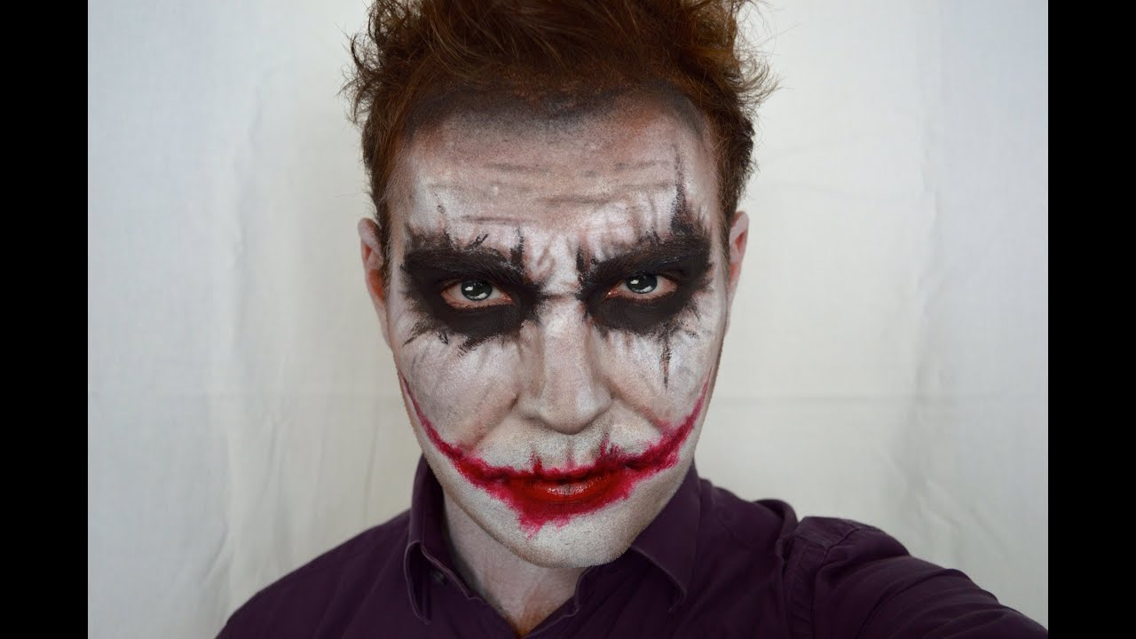 joker face paint tutorial