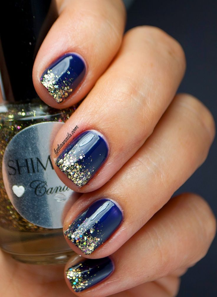 glitter gradient nails tutorial
