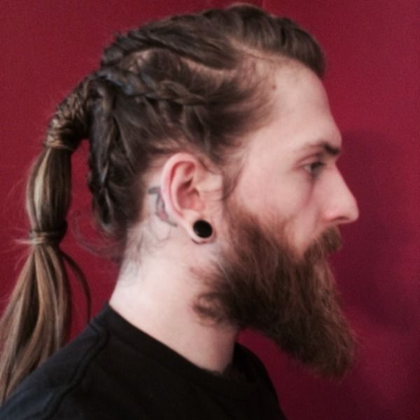 viking braids male tutorial