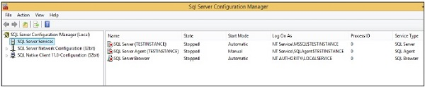 ms sql server tutorial point
