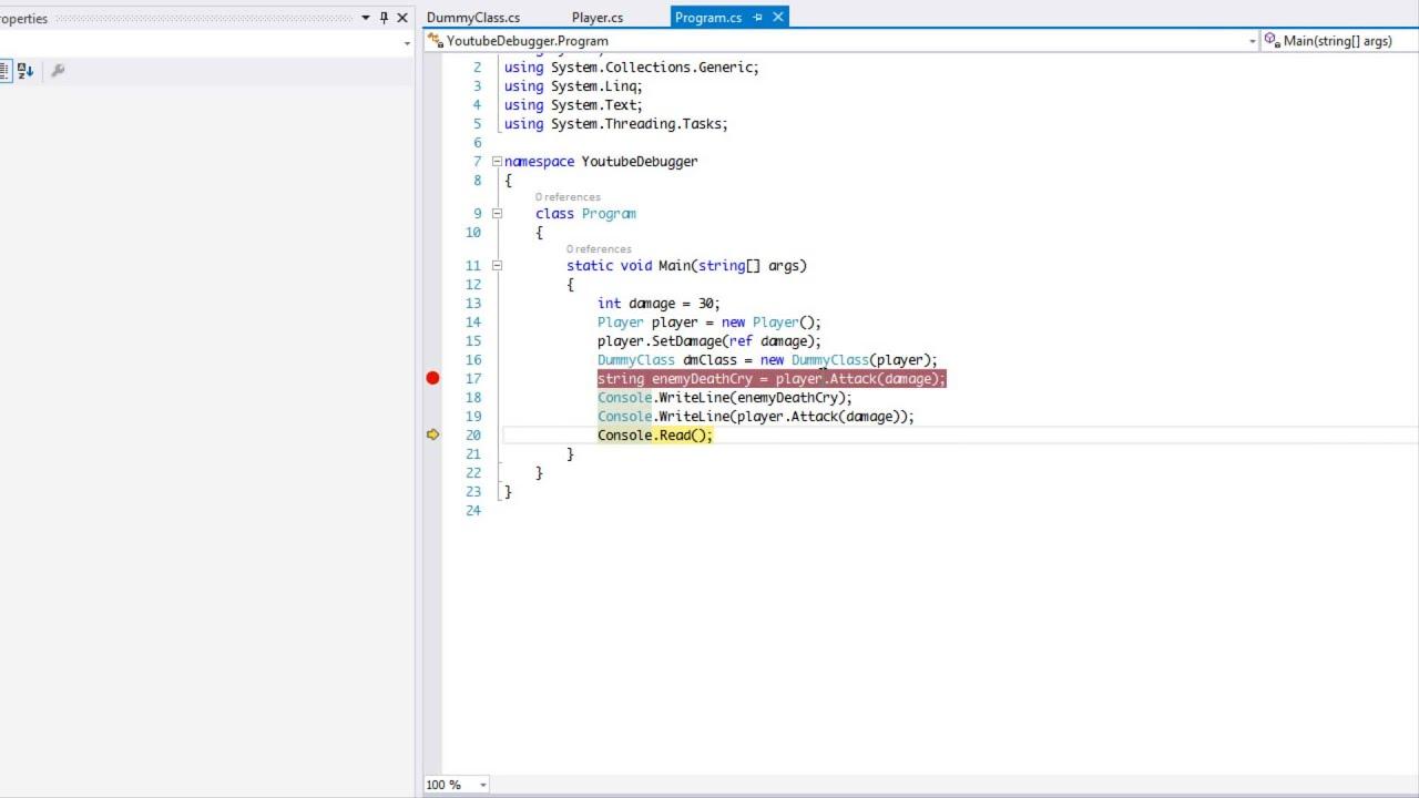 visual studio debugging tutorial