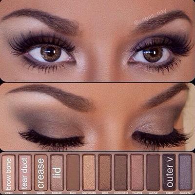 urban decay naked smoky palette naked eyes tutorial