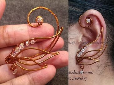 wire wrap ear cuff tutorial
