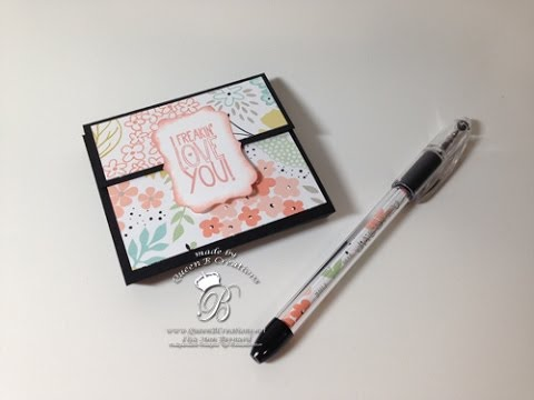 stampin up post it note holder tutorial