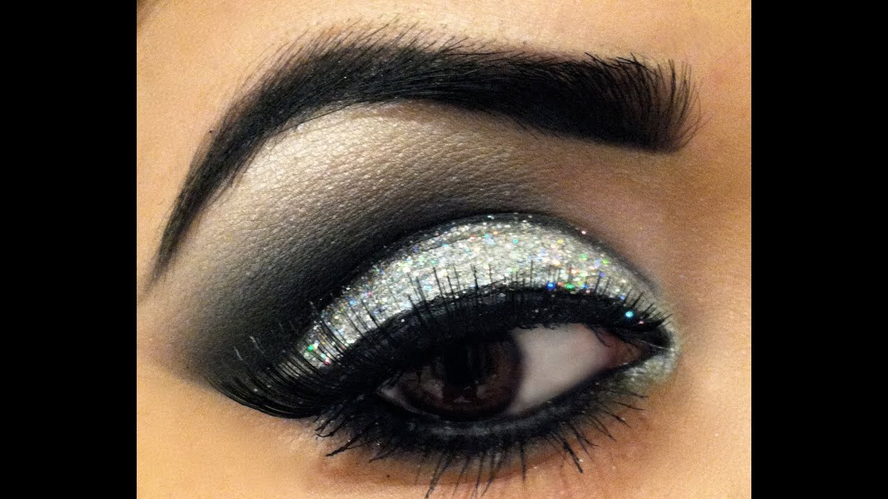 silver prom makeup tutorial