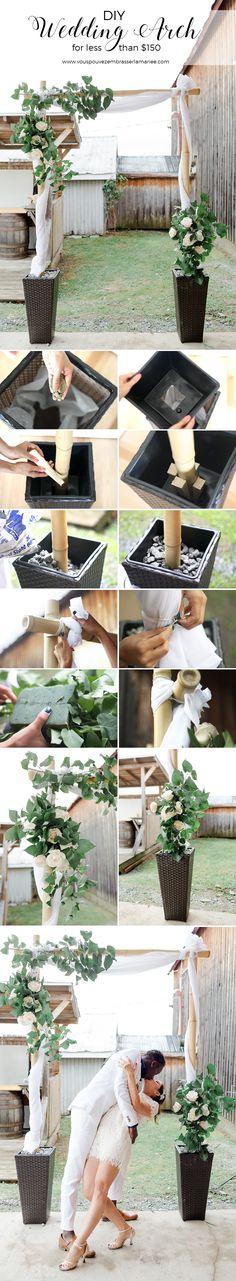 diy wedding arch tutorial