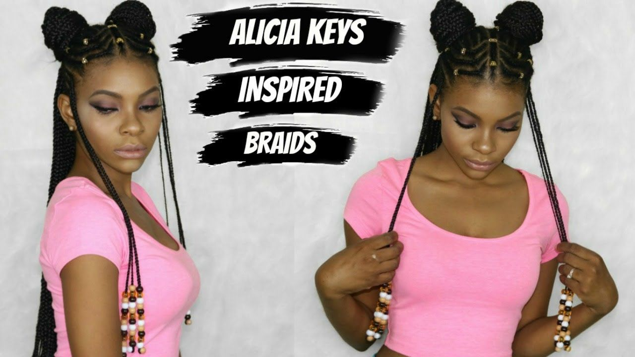 box braids hairstyles tutorial