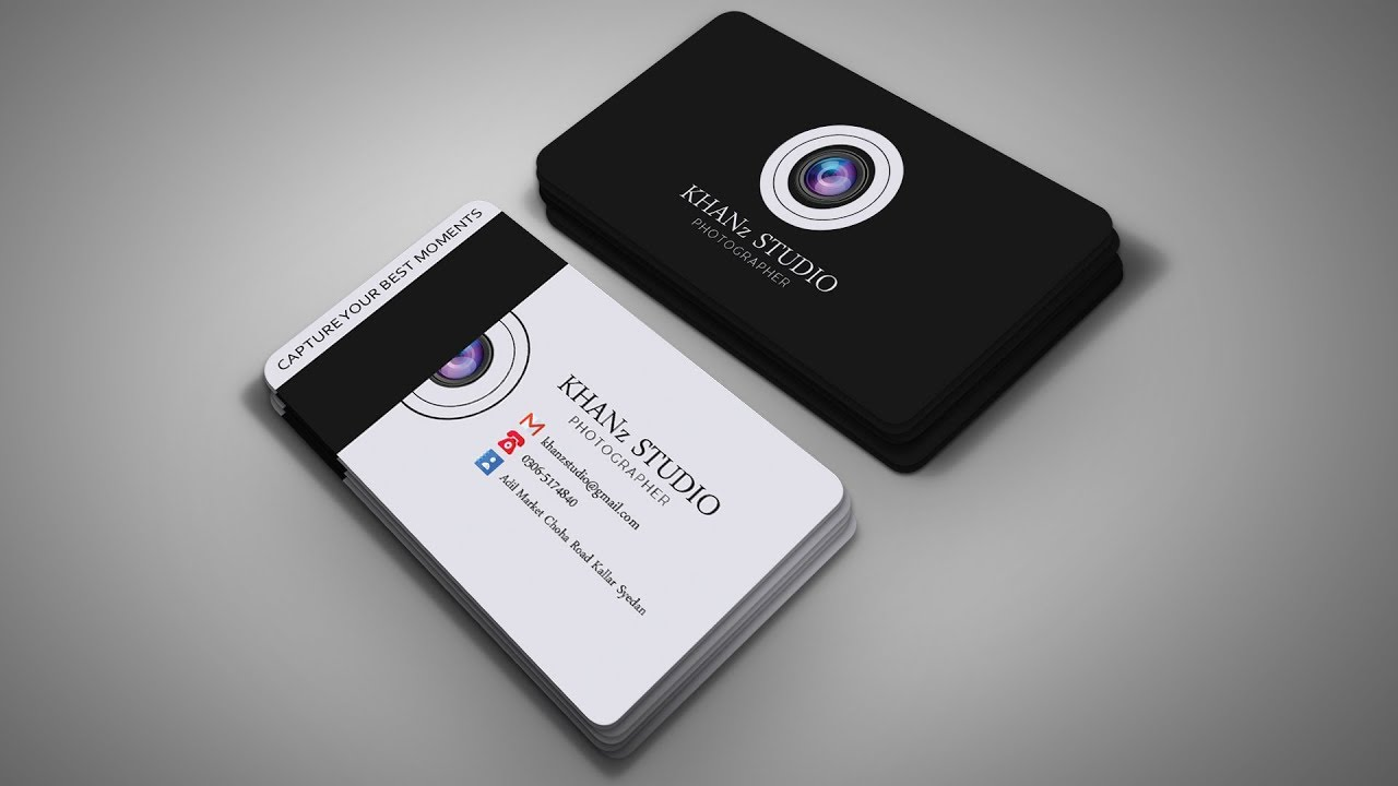 photoshop business card tutorial