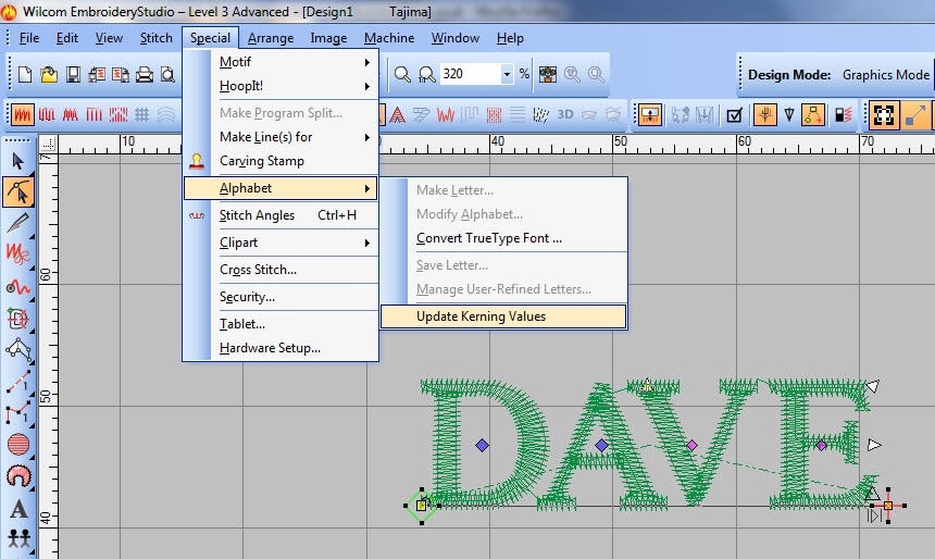letter it embroidery software tutorial