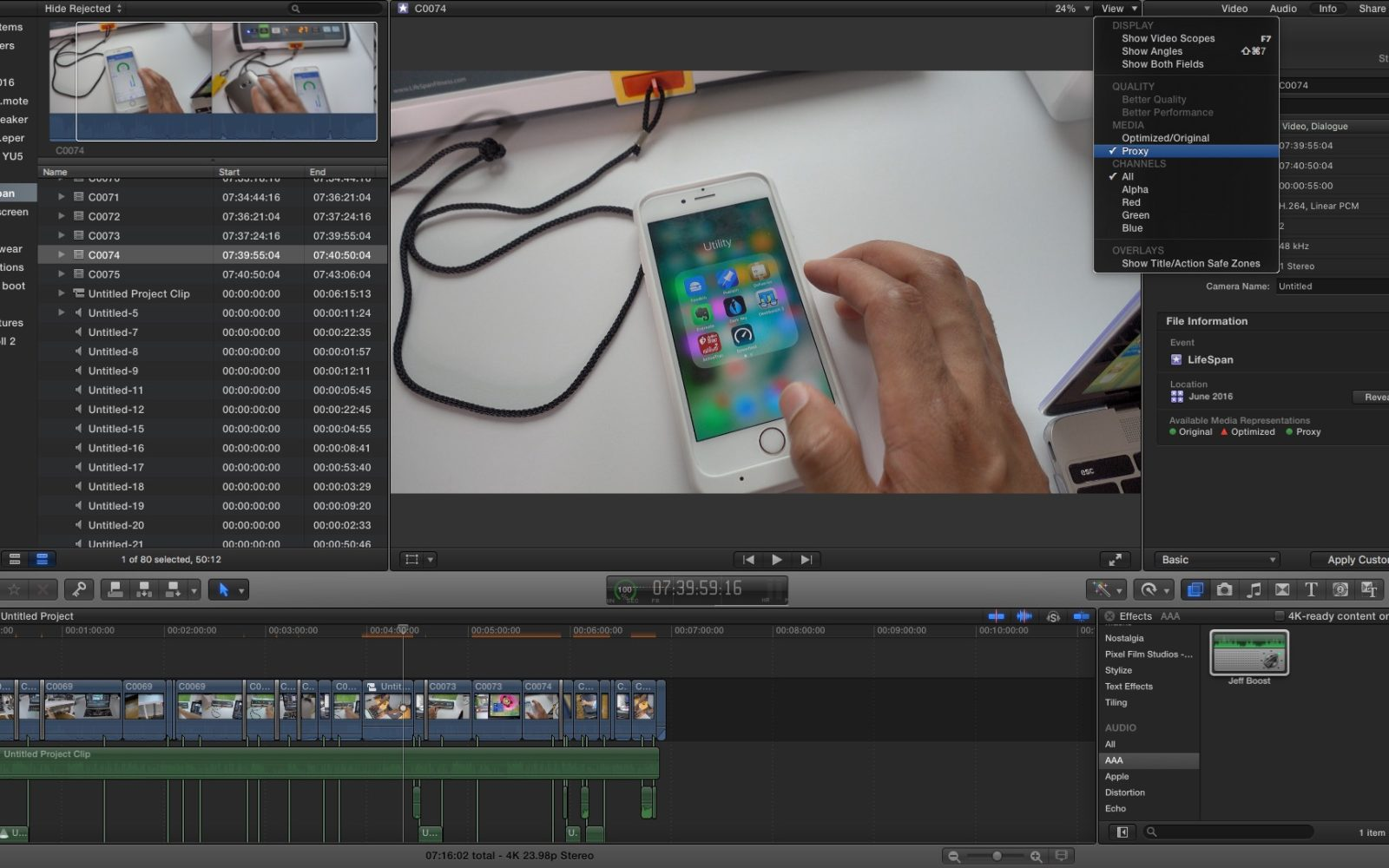 final cut pro x tutorial 2016