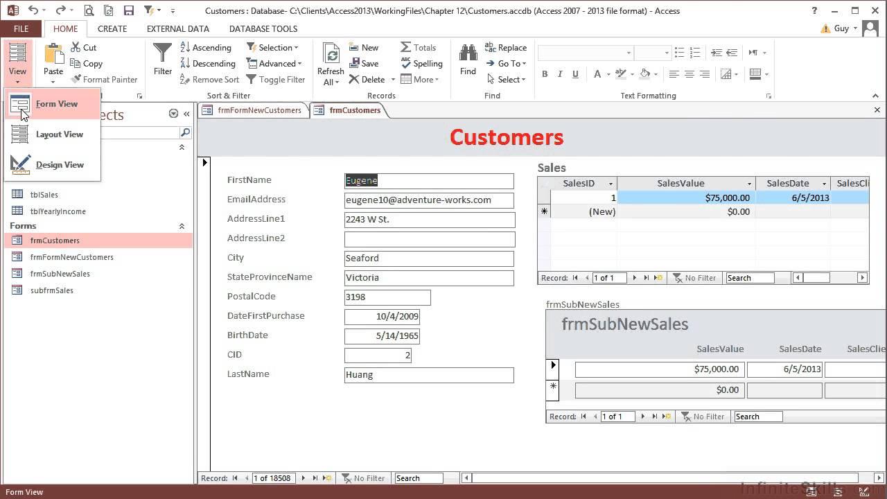 ms access 2013 video tutorial