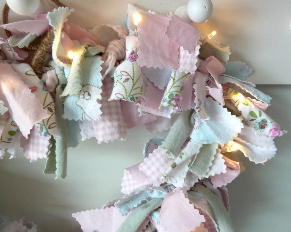 fabric heart wreath tutorial