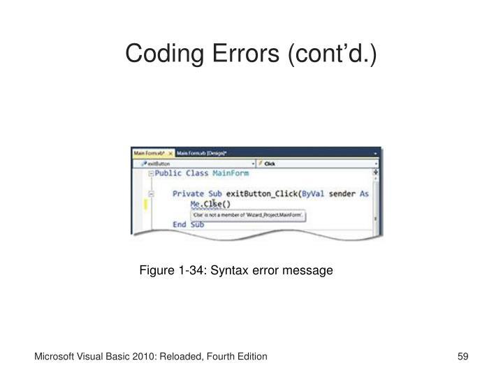 visual basic syntax tutorial
