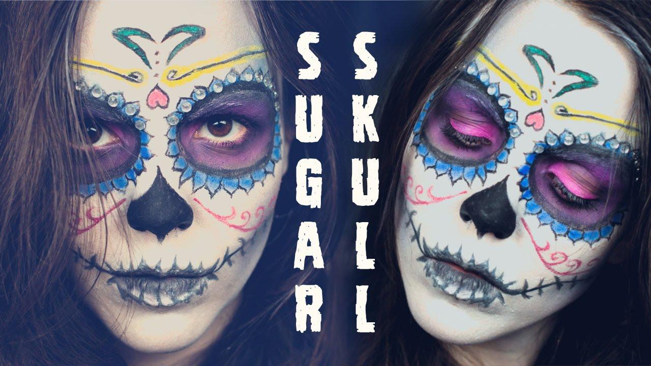 sugar skull makeup tutorial guy