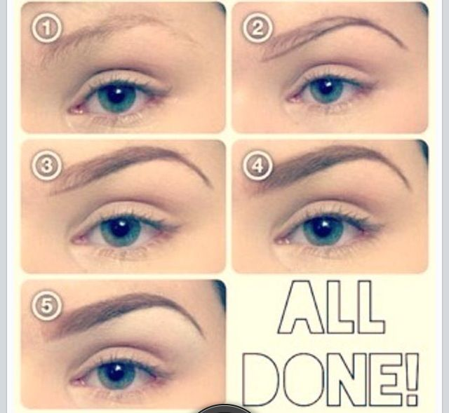 how to draw on eyebrows tutorial