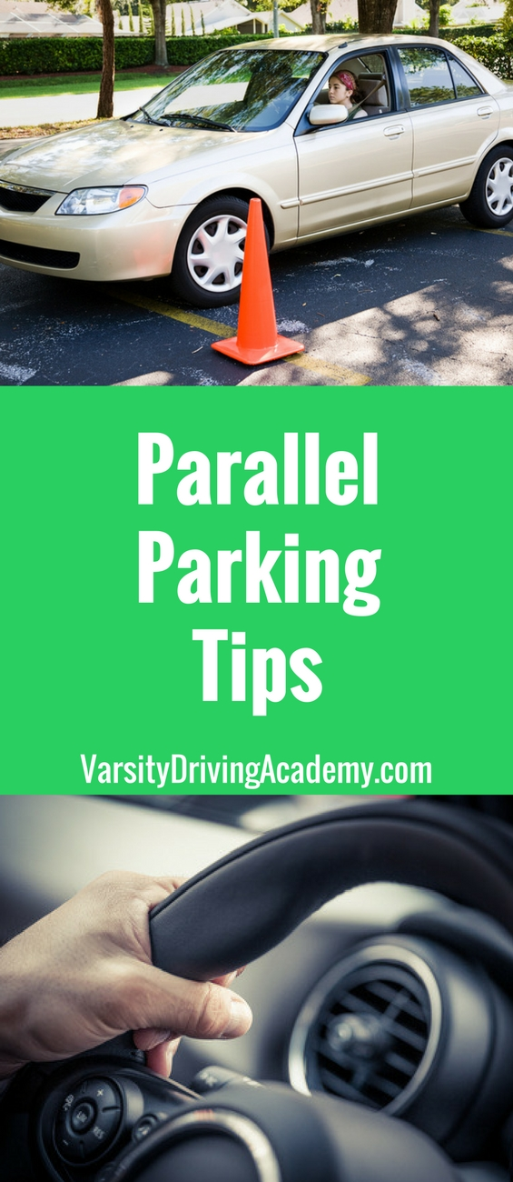 parallel parking tutorial with cones