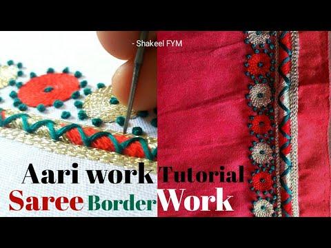 aari cut work tutorial