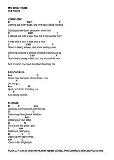 mr brightside acoustic tutorial