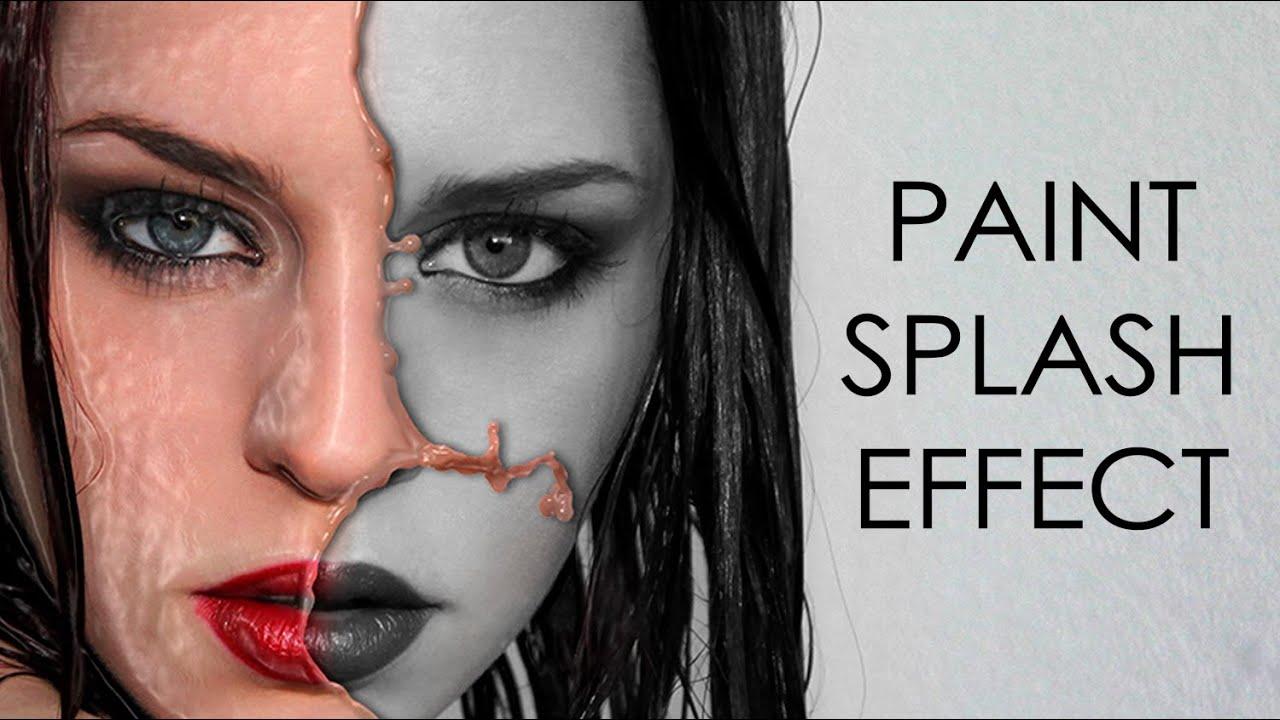 paint splash photoshop tutorial