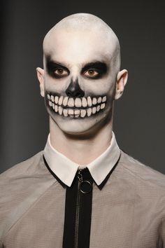 mens skull makeup tutorial